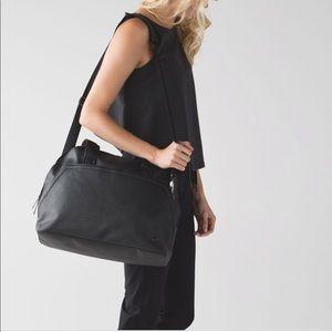 Lululemon yin time laptop gym tote bag black